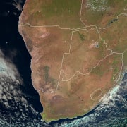 Southern Africa satellite image