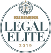 Voted One of North Carolna's Legal Elite - Attorney in 2019