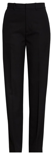 slim leg black pants | 40plusstyle.com