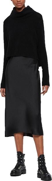 ALLSAINTS two piece sweater & slipdress | 40plusstyle.com