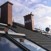 Steildach, Flachdach, Dach, Kamin, Photovoltaik, Schornstein, Satellitenschüssel