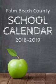Palm Beach County School Calendar for 2018-2019