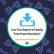 Can You Export a Family Tree From Ancestry?