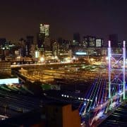 City of Johannesburg skyline at night