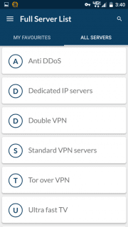 NordVPN special use servers android