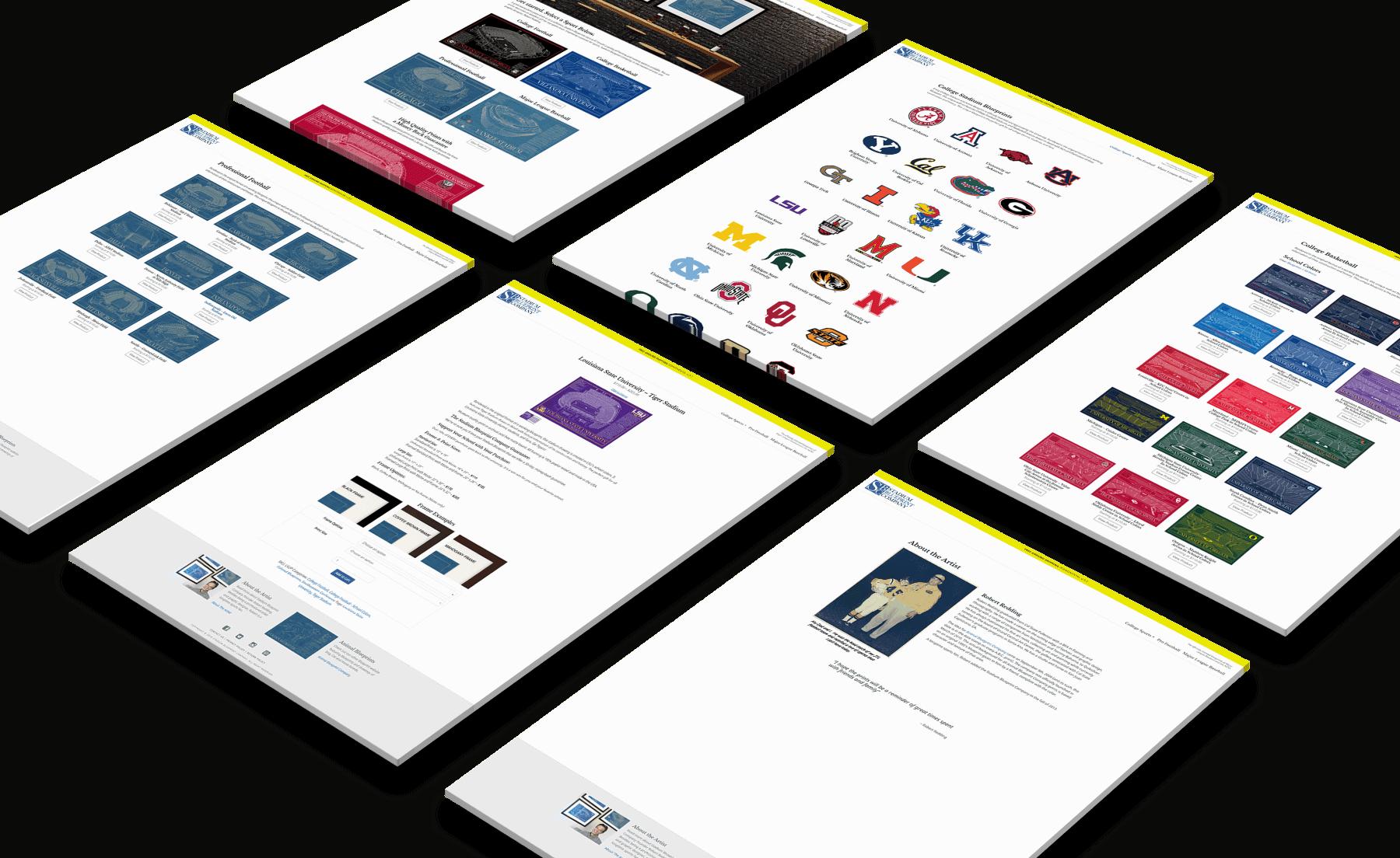 Stadium Blueprint Company Website Design