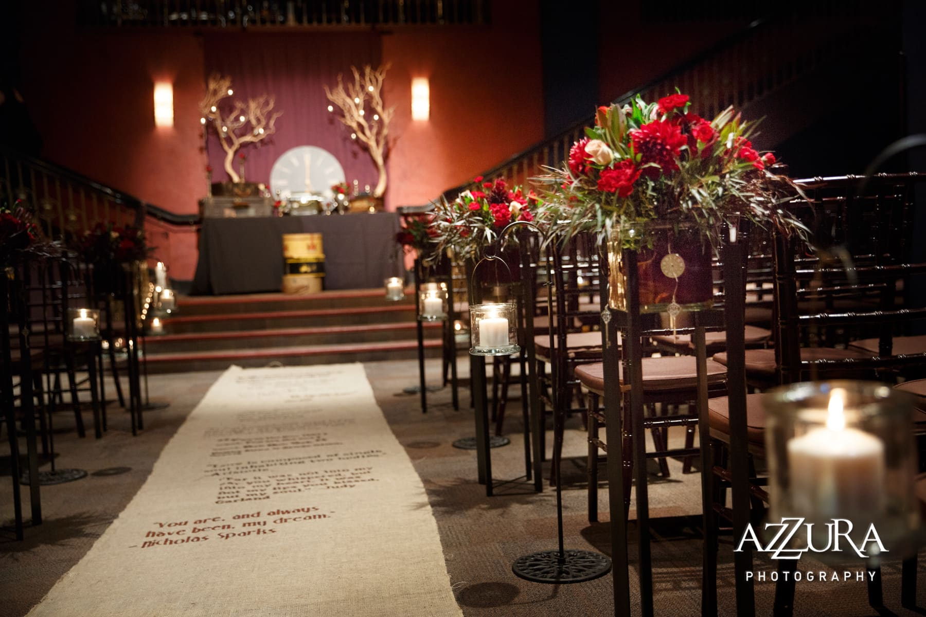 ACT Theater Seattle Wedding by Azzura Photography