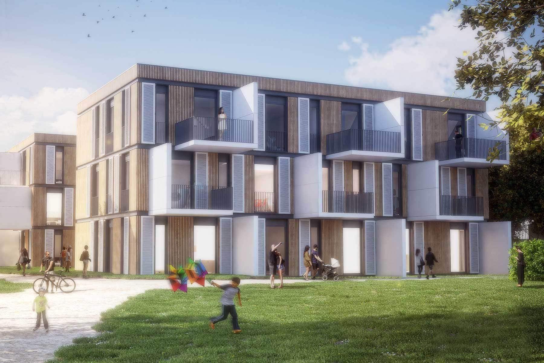Wohnraum für Alle - Wohnhaus Green Hybridbauweise