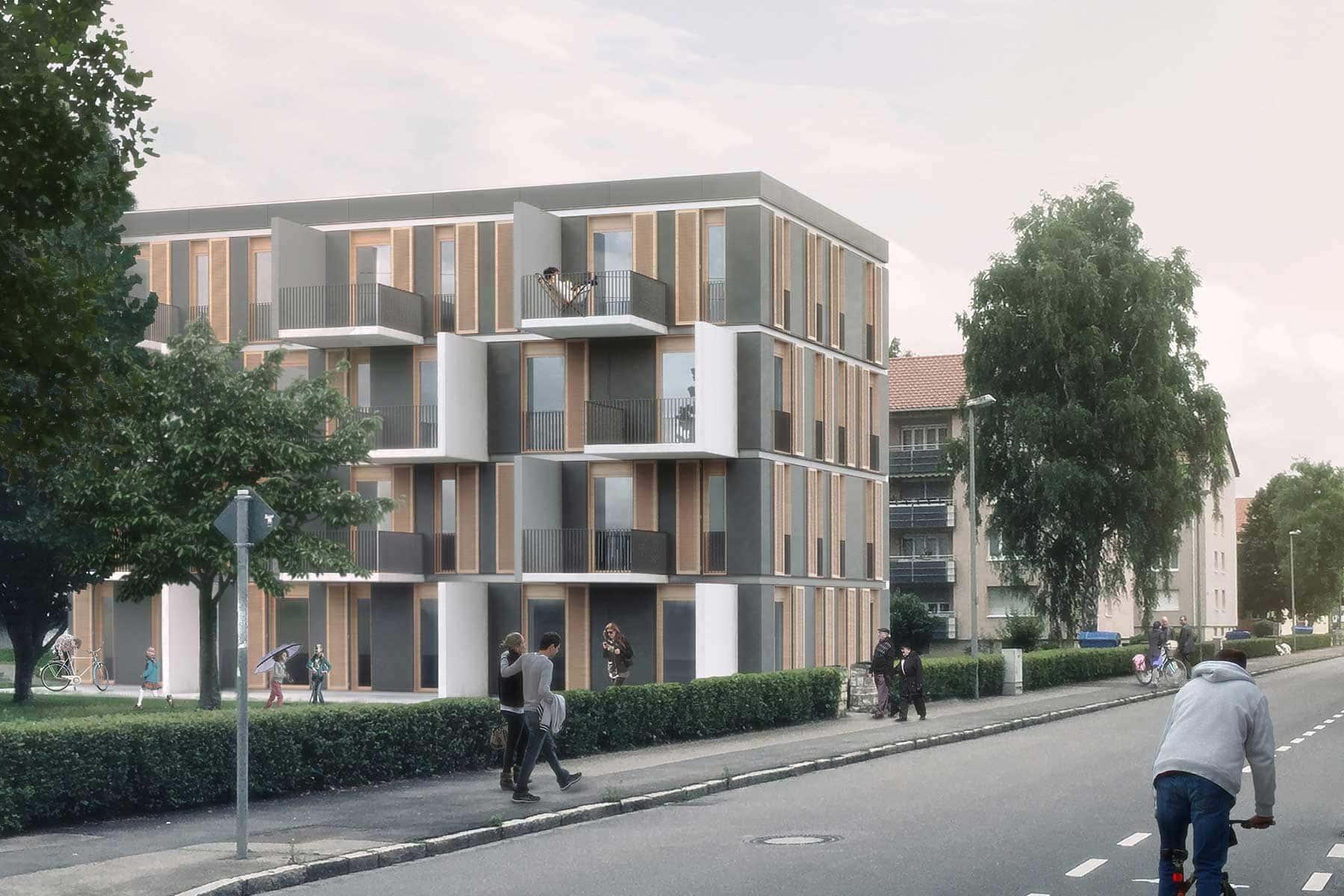 Wohnraum für Alle - Wohnhaus Suburban Hybridbauweise