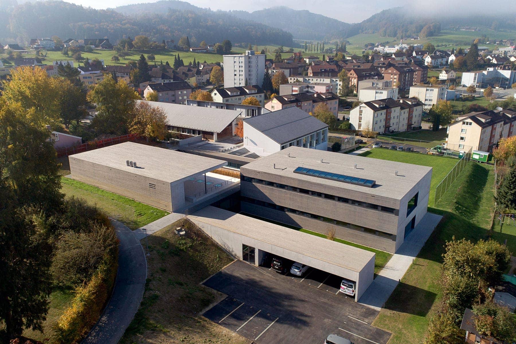 Heilpädagogische Schule Flawil Luftaufnahme