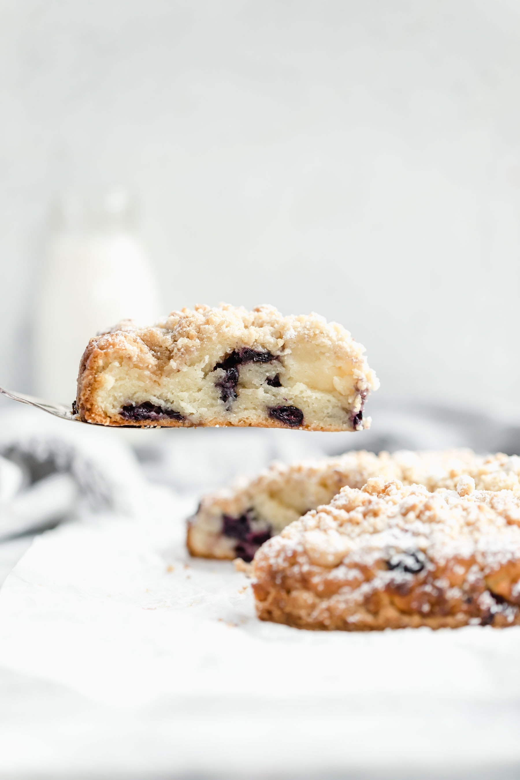Blueberry scones with a decadent streusel topping. These blueberry streusel scones are perfect for mother's day!