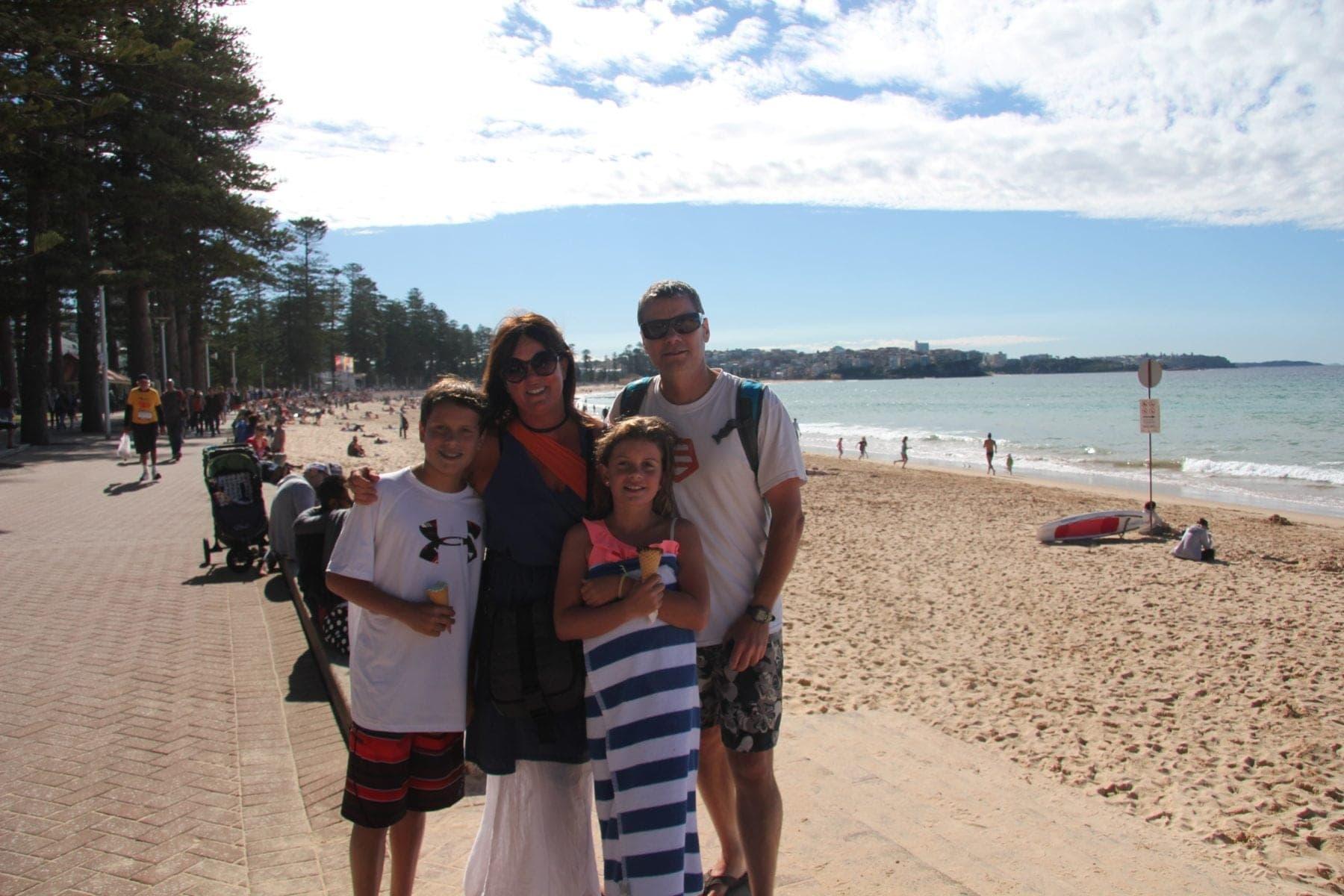 australia manly beach family
