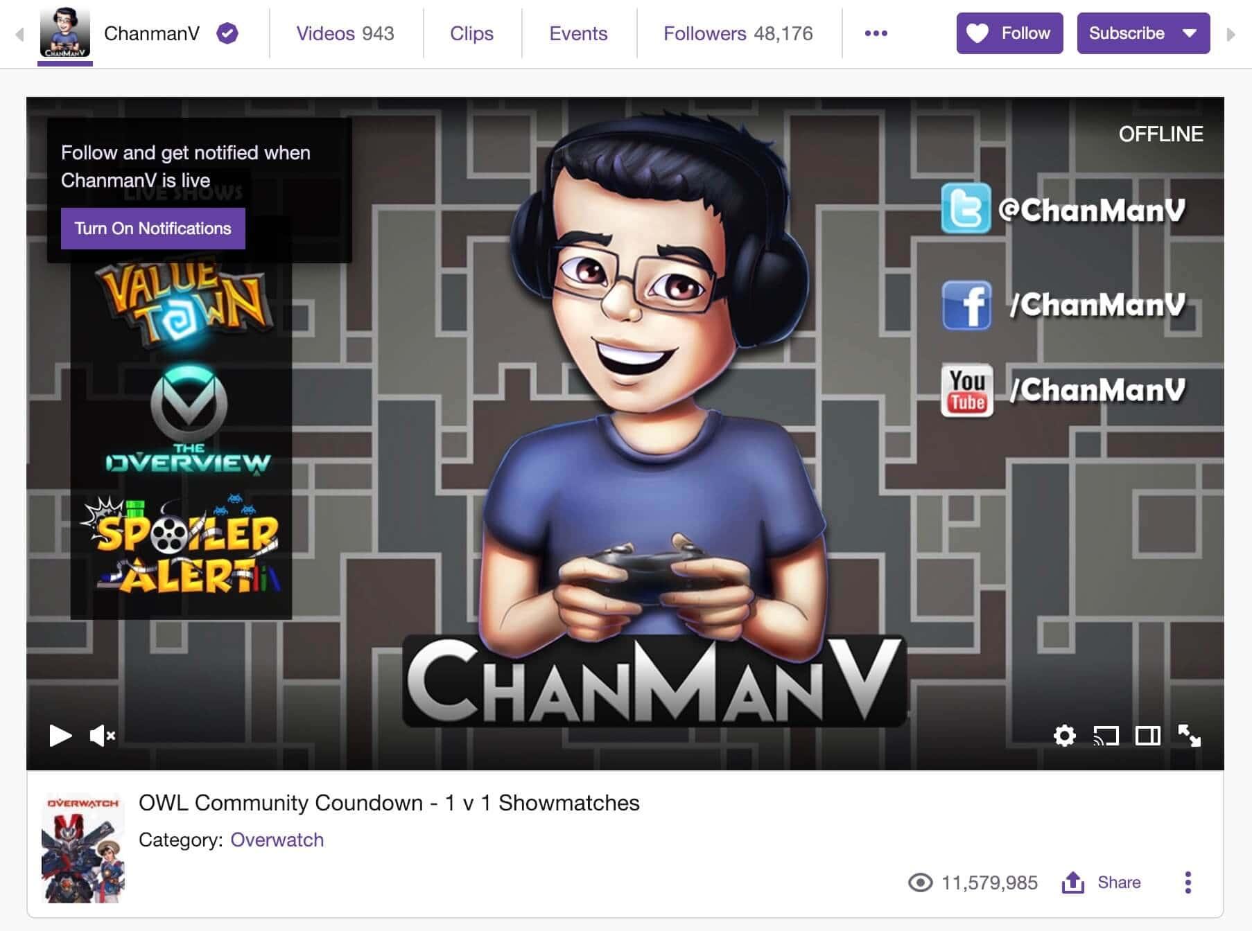 chanman twitch offline end screen