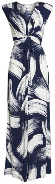Eliza J front knot jersey maxi dress | 40plusstyle.com