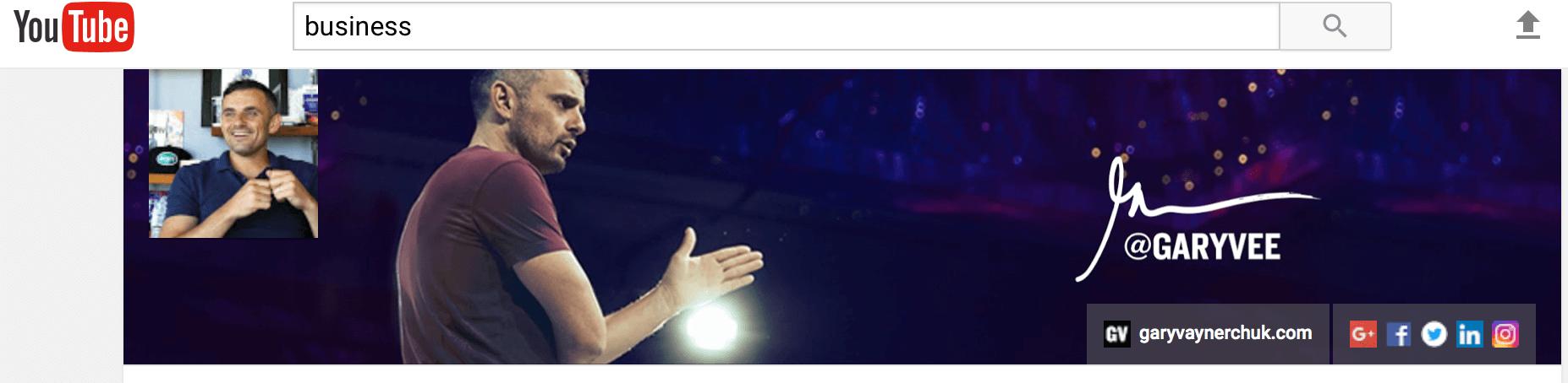 Gary Vaynerchuk YouTube channel art ideas