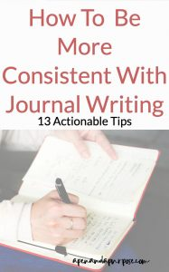 13 tips on how to write a journal entry on a (near) daily basis