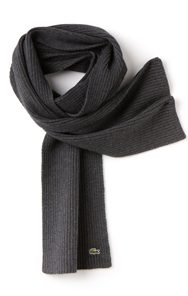 LACOSTE Men's Ribbed Mouliné Wool Scarf