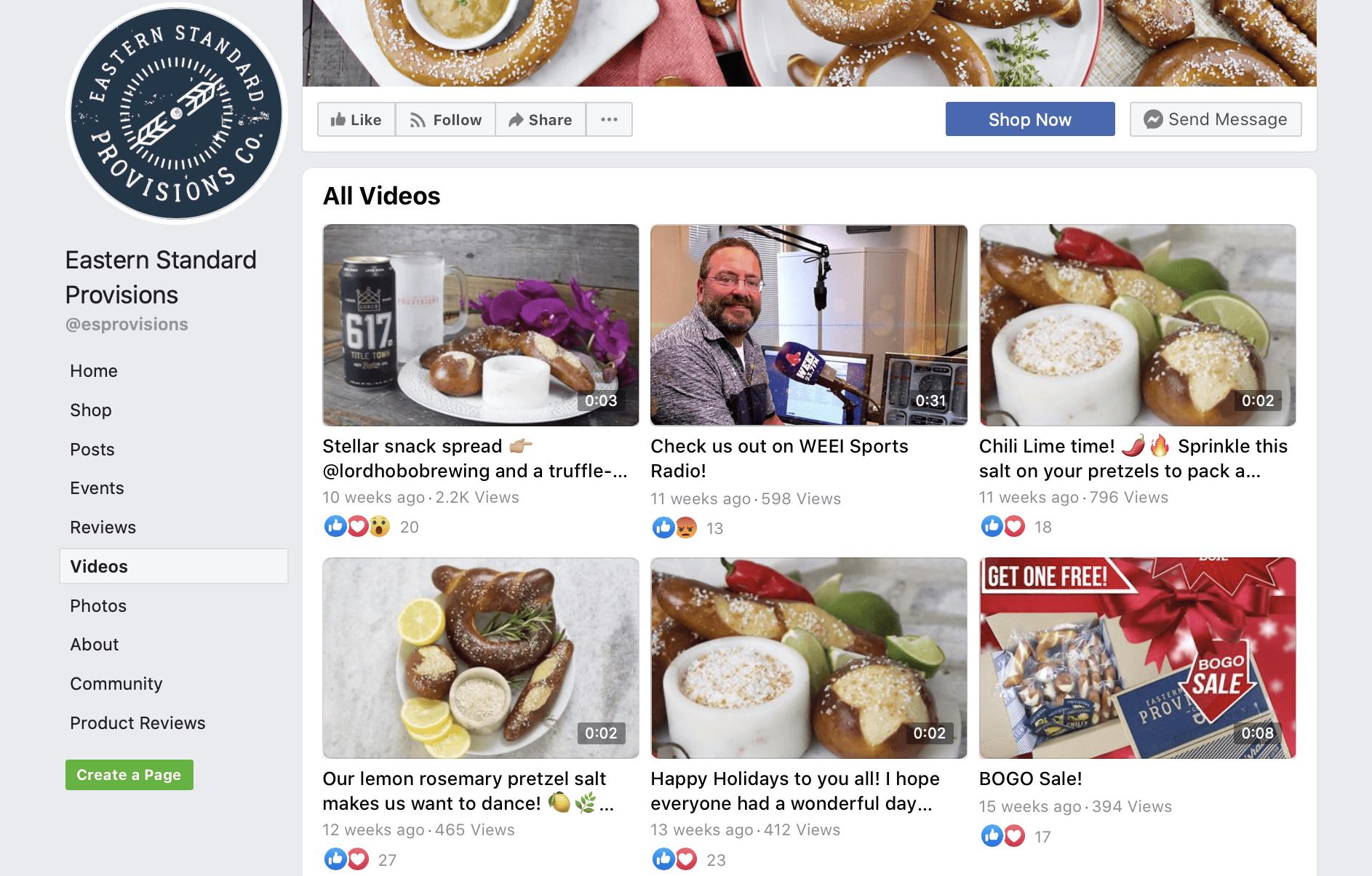 Facebook video thumbnails