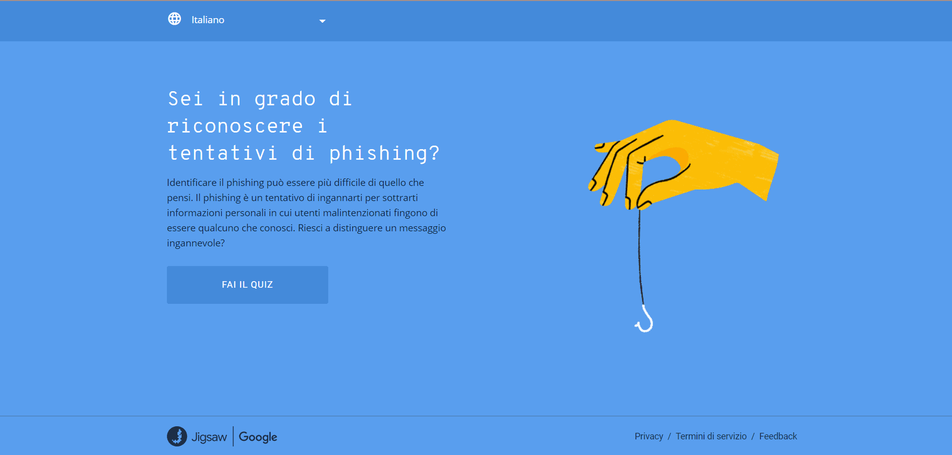 Quiz Google phishing