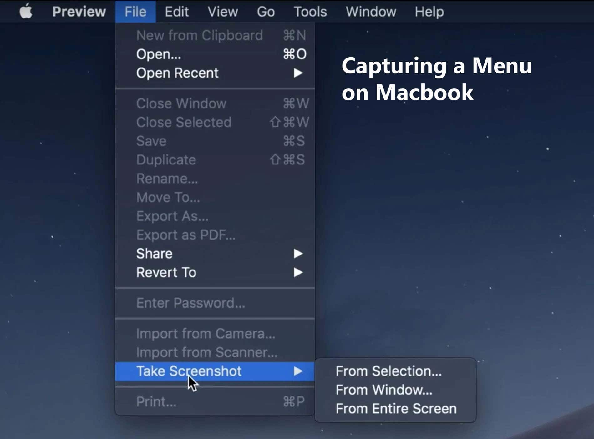 how to capture a menu on mac - starters guide