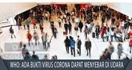 Ada Bukti Virus Corona Dapat Menyebar di Udara