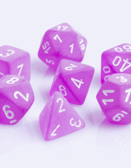 Polydice 7 Dobbelstenenset Frosted Purple White D&D Dice dungeons and Dragons RPG