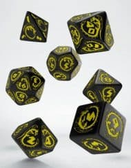 Polydice Set Q-Workshop Dragons Black & Yellow
