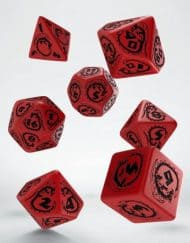 Polydice Set Q-Workshop Dragons Red & Black