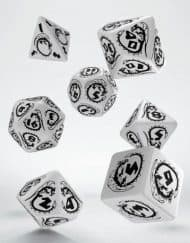 Polydice Set Q-Workshop Dragons White & Black