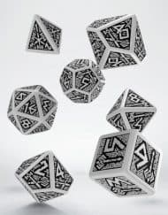 Polydice Set Q-Workshop Dwarven White & Black