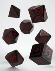 Polydice Set Q-Workshop Elvish Black & Red