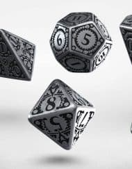 Polydice Set Q-Workshop Metal Steampunk Dice