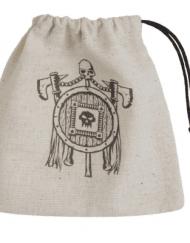 Dice Bag Orc Beige Black Basic Dice Bag Q-Workshop