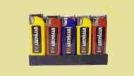 Encendedor personalizado recargable con adhesivo en resina