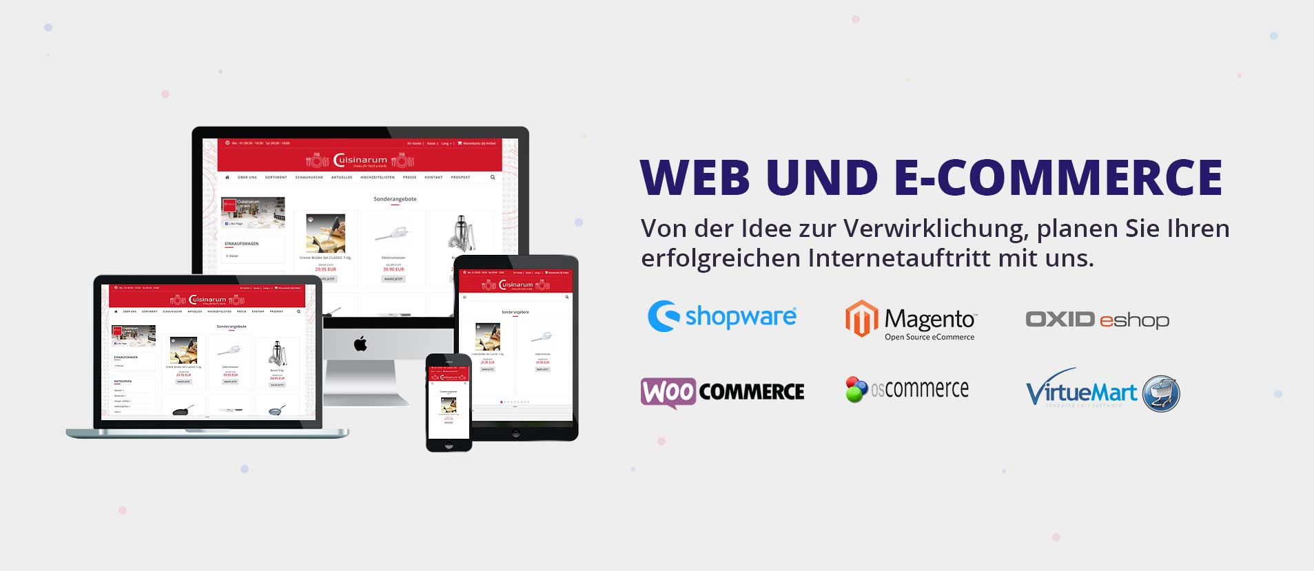 Webdesign - E-Commerce - Onlineshop