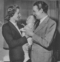Dinah Grace und Willy Fritsch mit Sohn