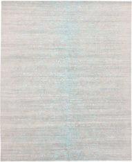 beżowo niebieski dywan wycinany Shangri La Aqua Azul 7032