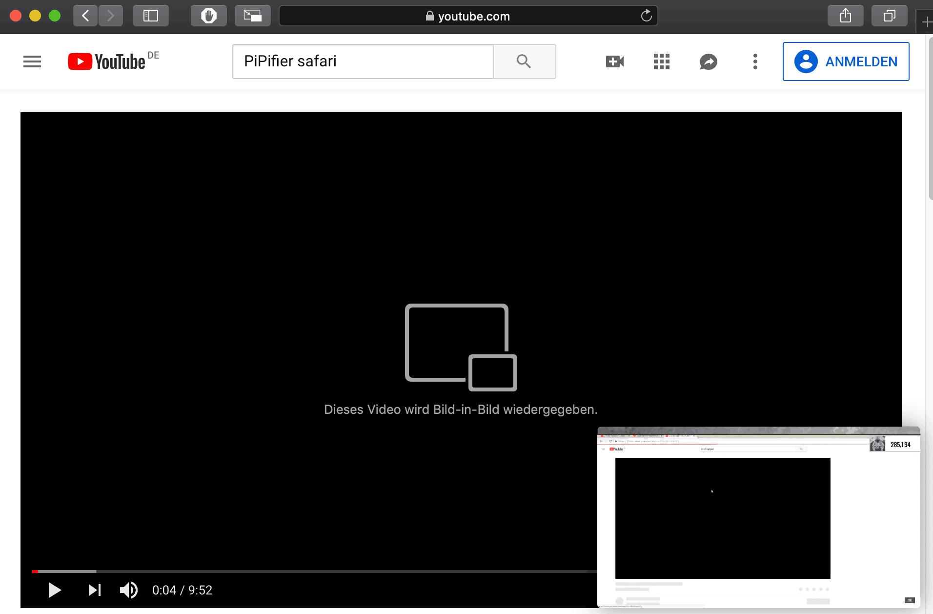 Youtube Bild-in-Bild PiPifier
