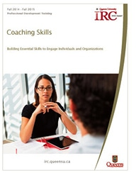 Queen's IRC Coaching Skill training program brochure cover