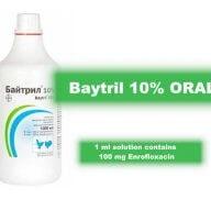 baytril 10% oral Enrofloxacin