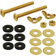 Toilet tank mounting bolt set - 3""