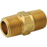 Iron pipe fitting - Hex pipe nipple