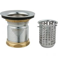 Duplex sink strainer assembly with deep basket