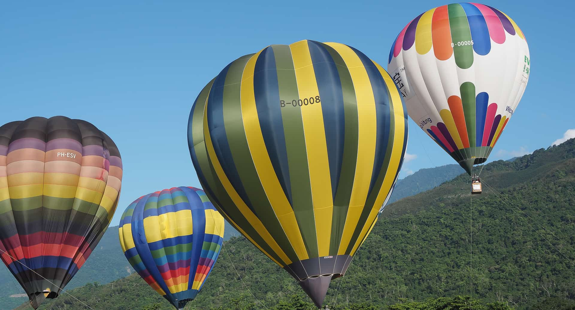 Hot air ballooning, one of the best things to do in in Taiwan!