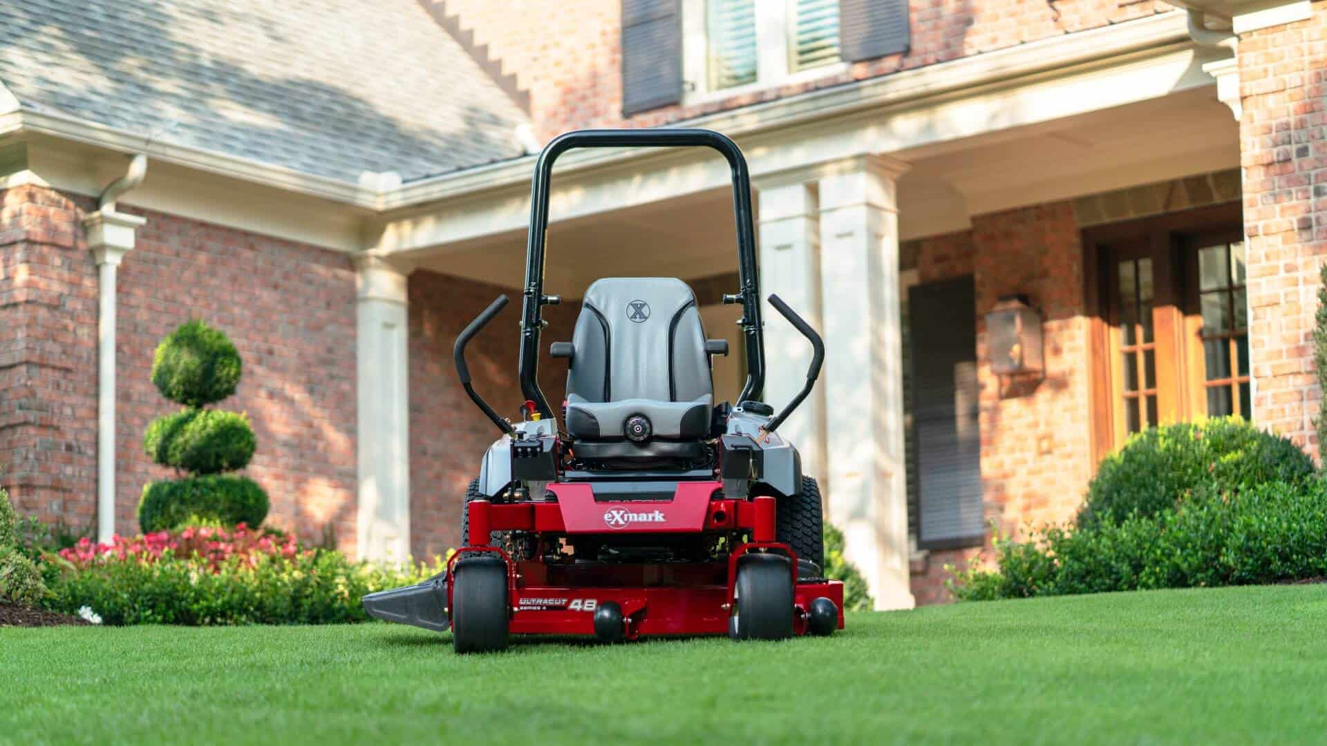 An Exmark mower ready to start mowing in the spring
