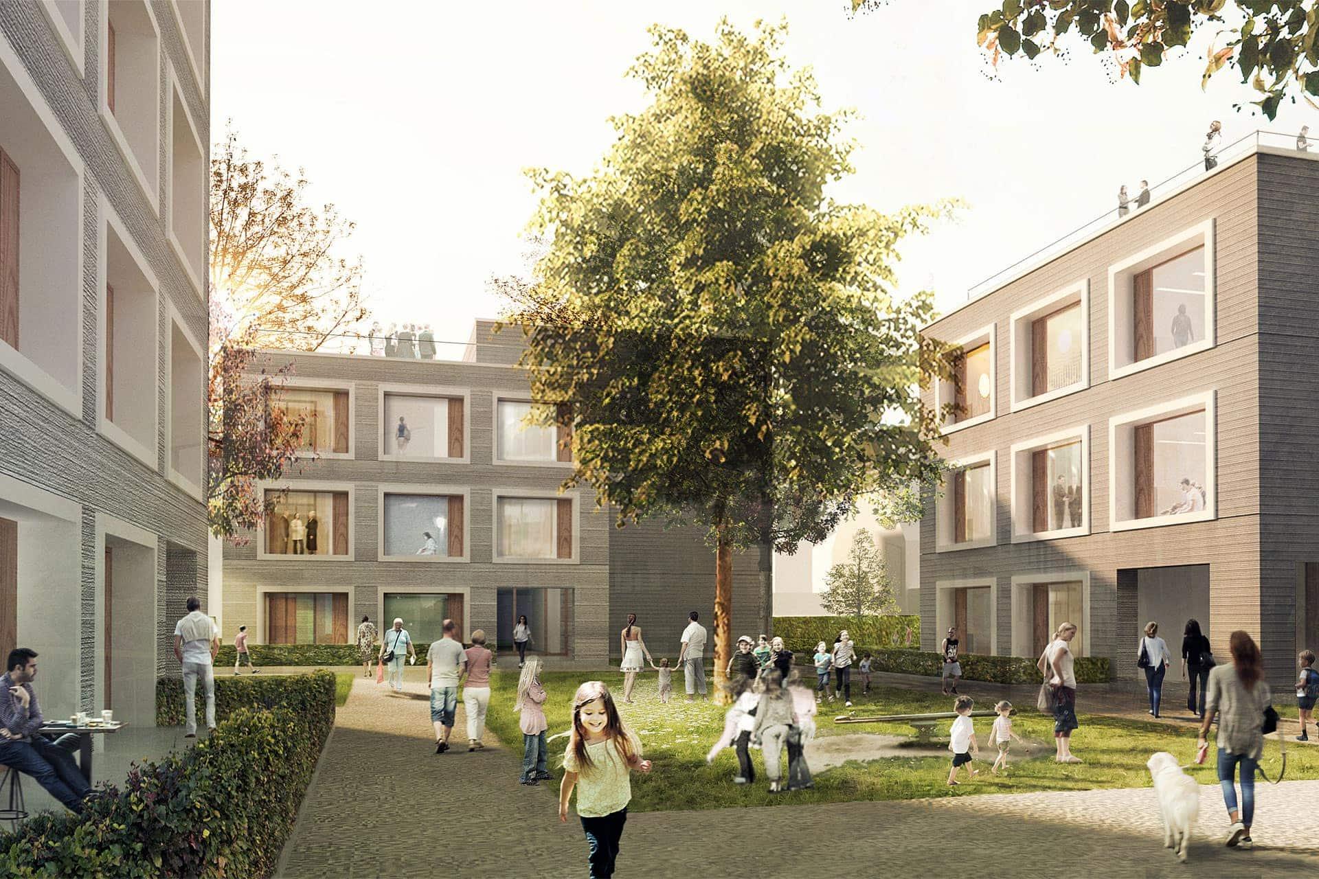 Siedlungsbau Wendlingen – Aussenansicht