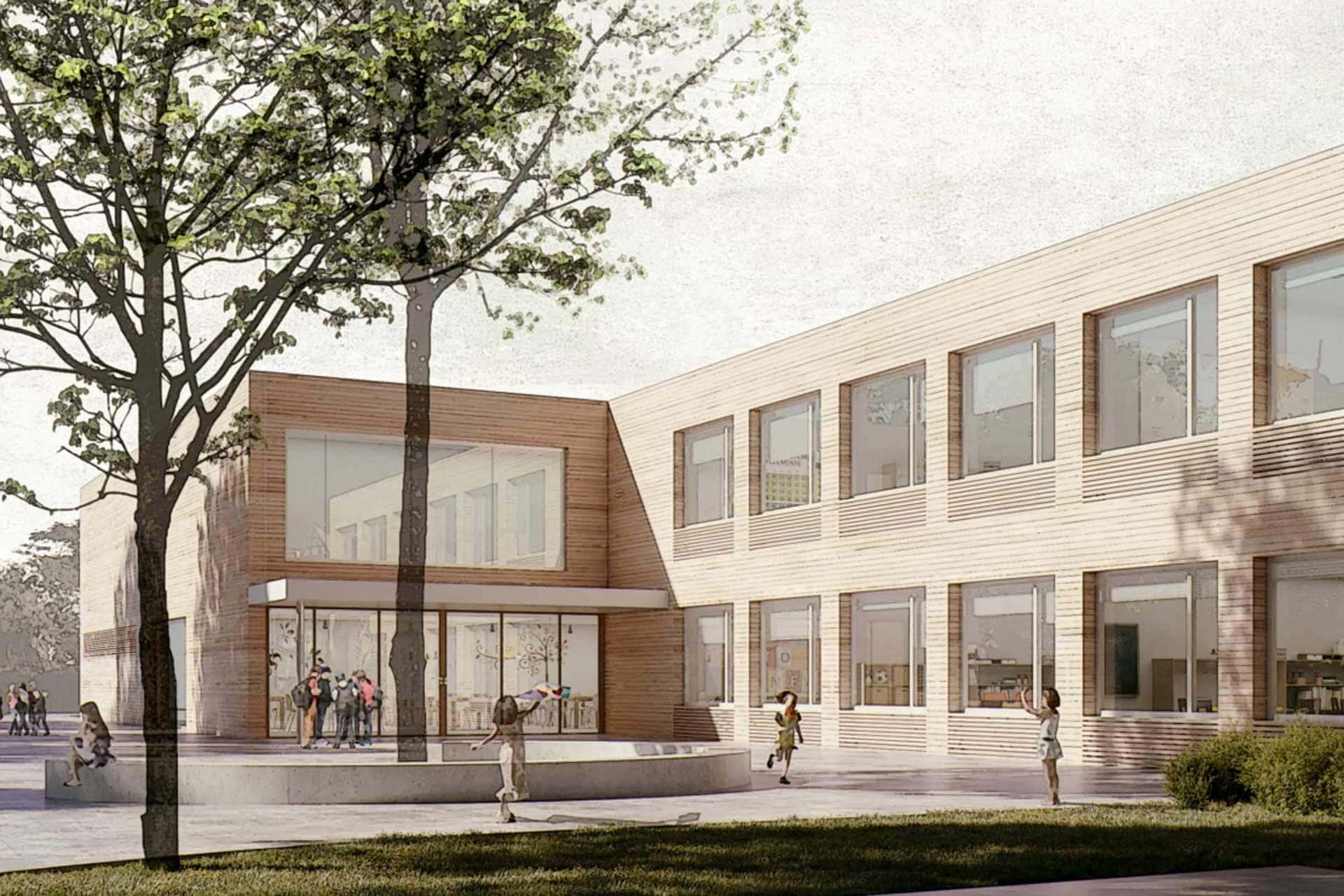 Ansicht Entwurf Grundschule Schorndorf