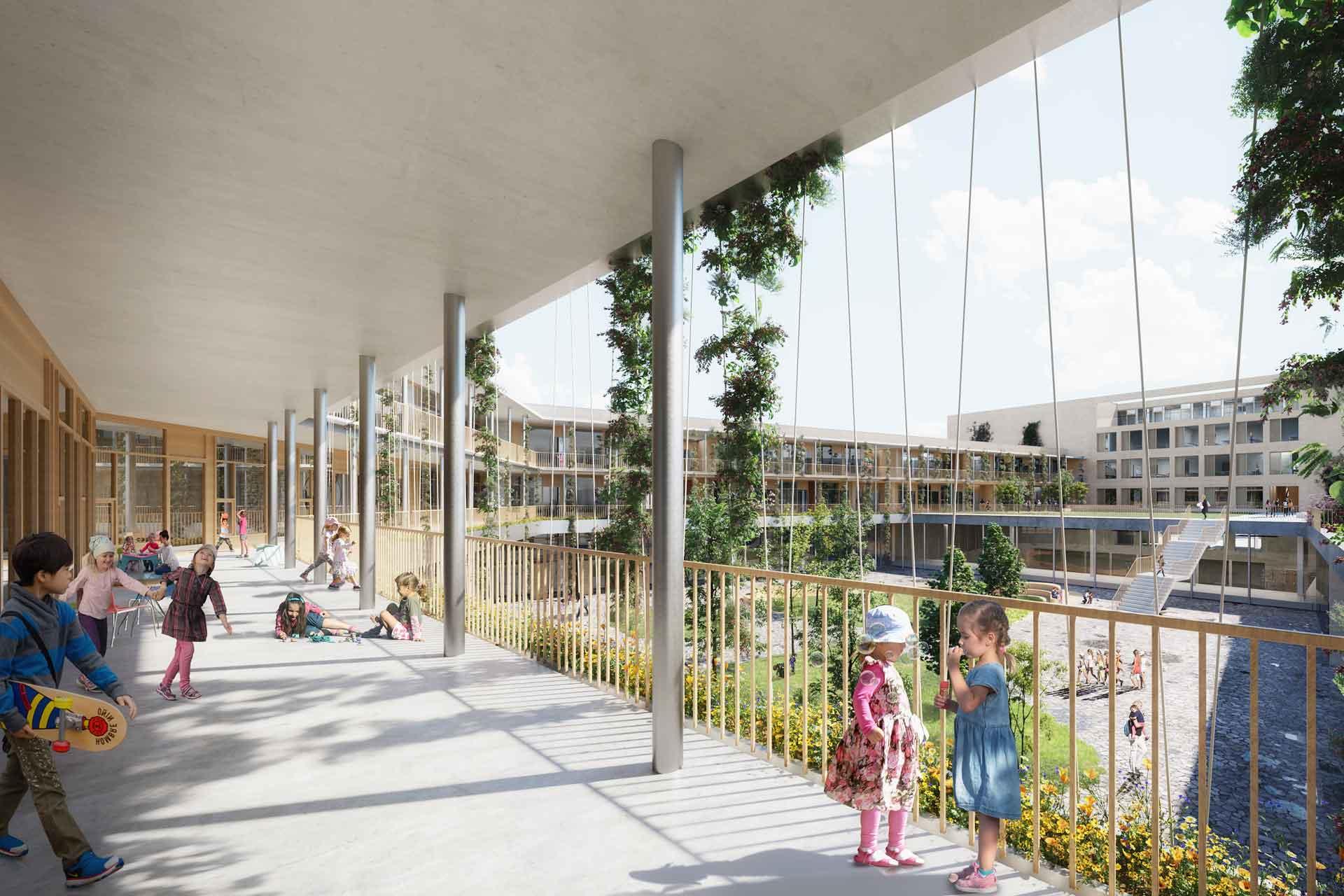 Bildungszentrum-Neckarpark-Stuttgart, Innenhof