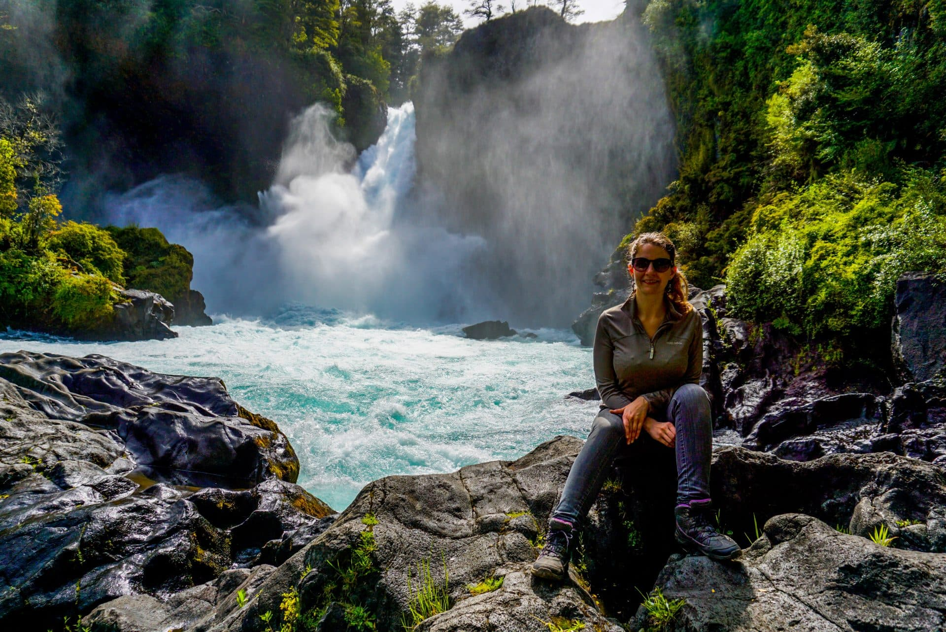 Huilo Huilo waterfall, Chile - Experiencing the Globe
