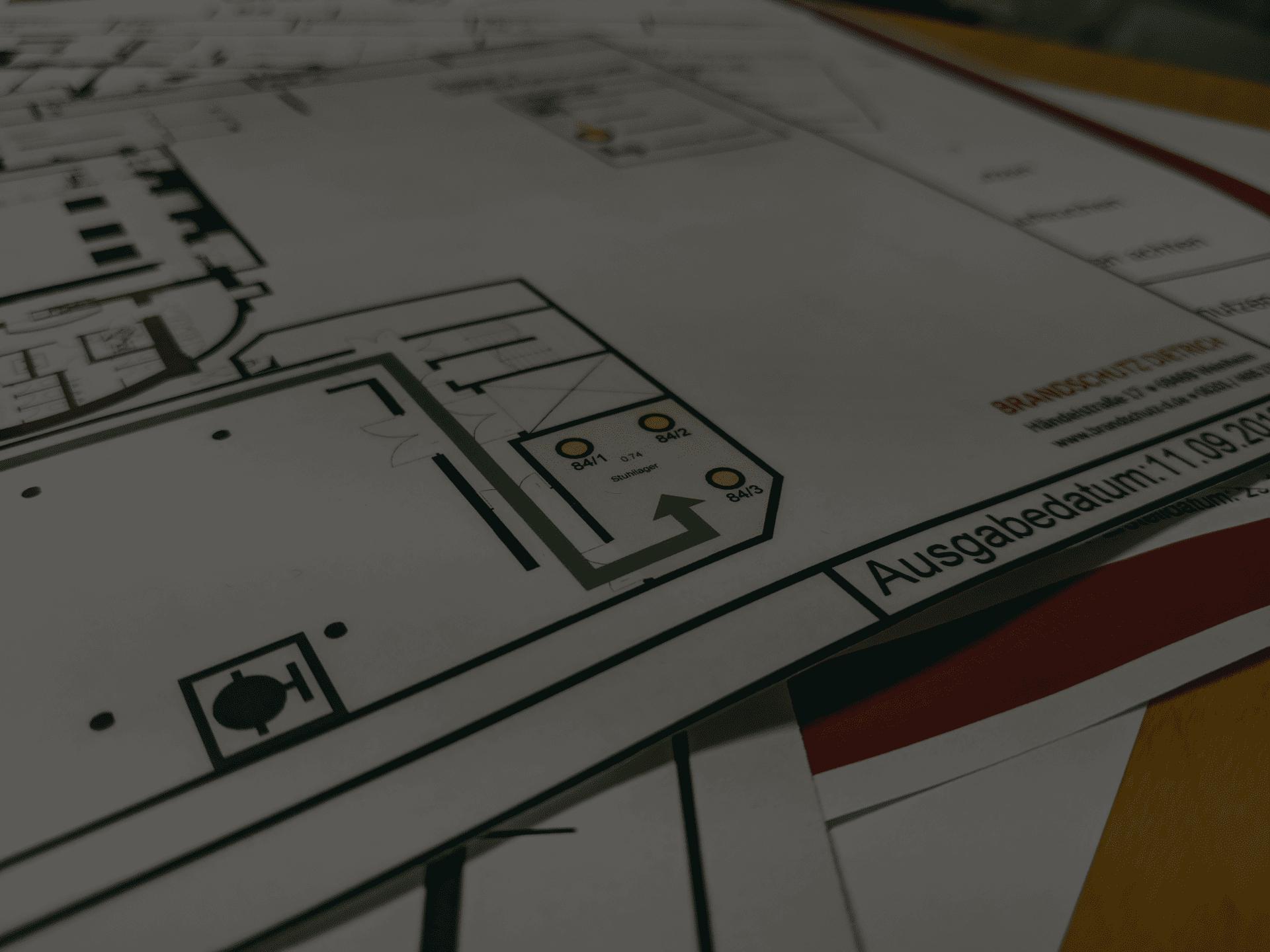 Feuerwehrlaufkarten nach DIN 14 675